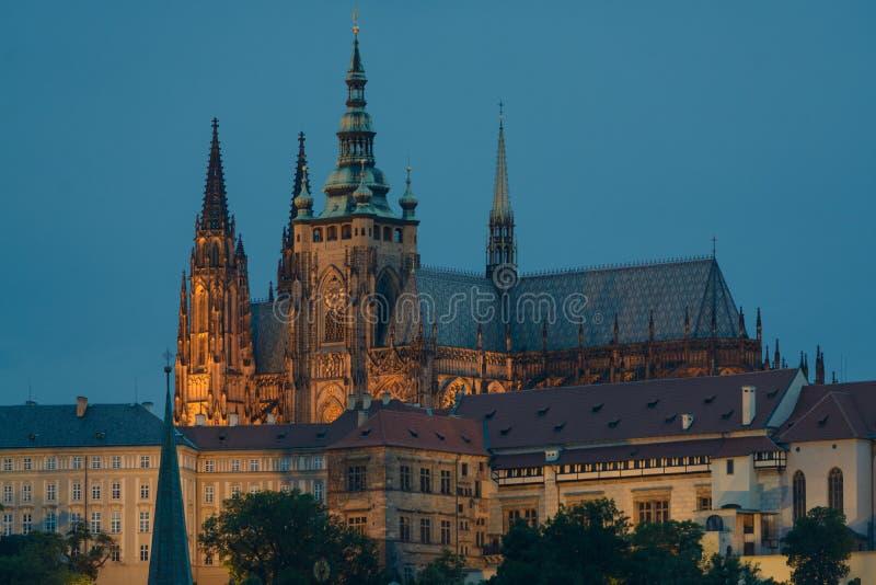 Område för Prague slott royaltyfria foton