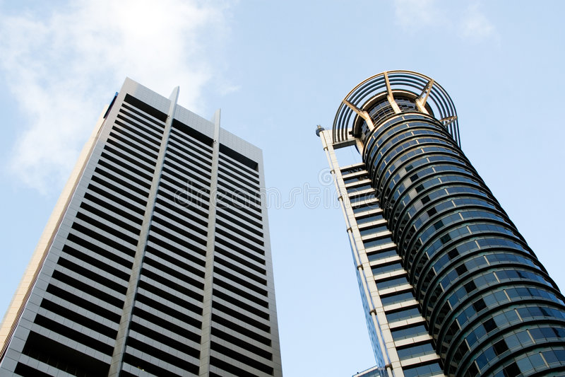 område finansiella singapore royaltyfri bild