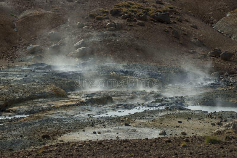 område geotermiska iceland royaltyfria foton