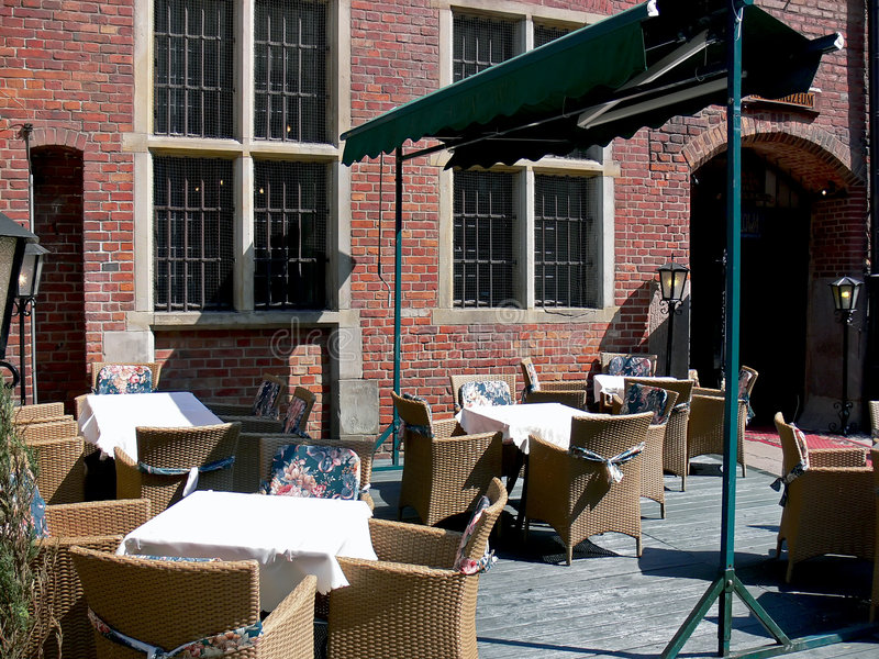 område som utanför äter middag royaltyfri foto