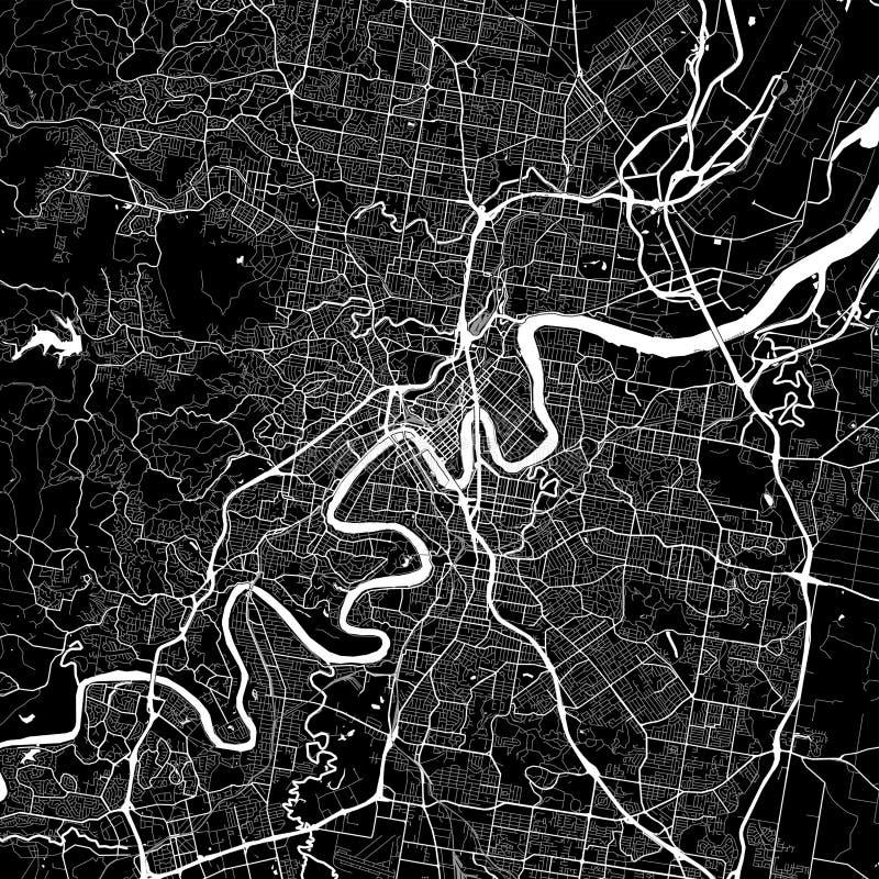 Områdesöversikt av Brisbane, Australien vektor illustrationer