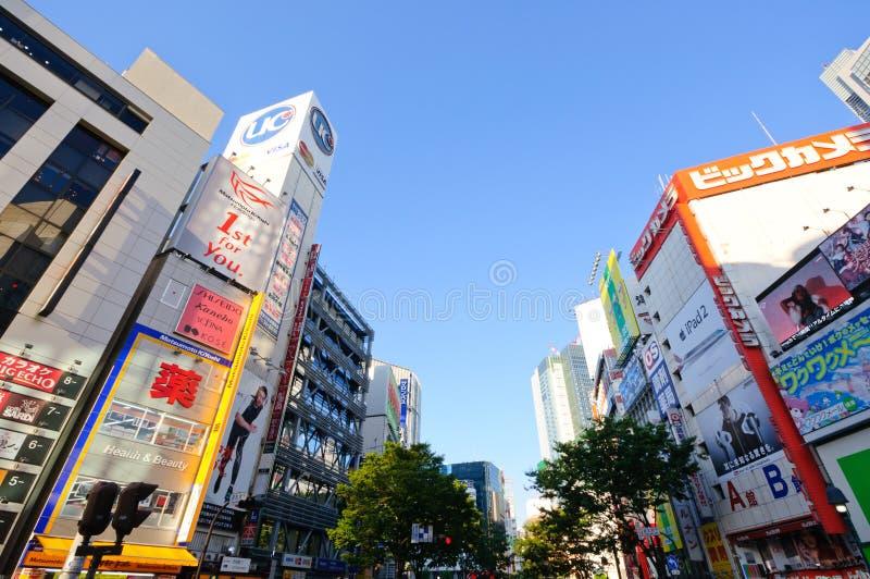 områdesjapan shibuya tokyo arkivbilder