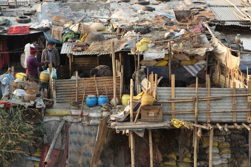 områdeskathmandu poor arkivbild