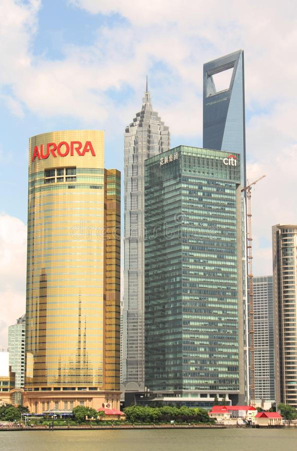 områdespudong shanghai royaltyfri foto