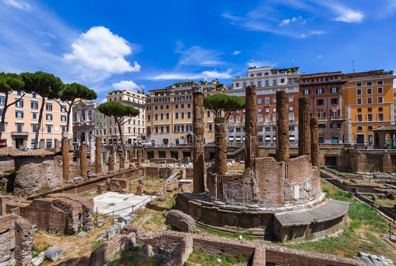 OmrådesSacra fördärvar i Rome Italien arkivbild