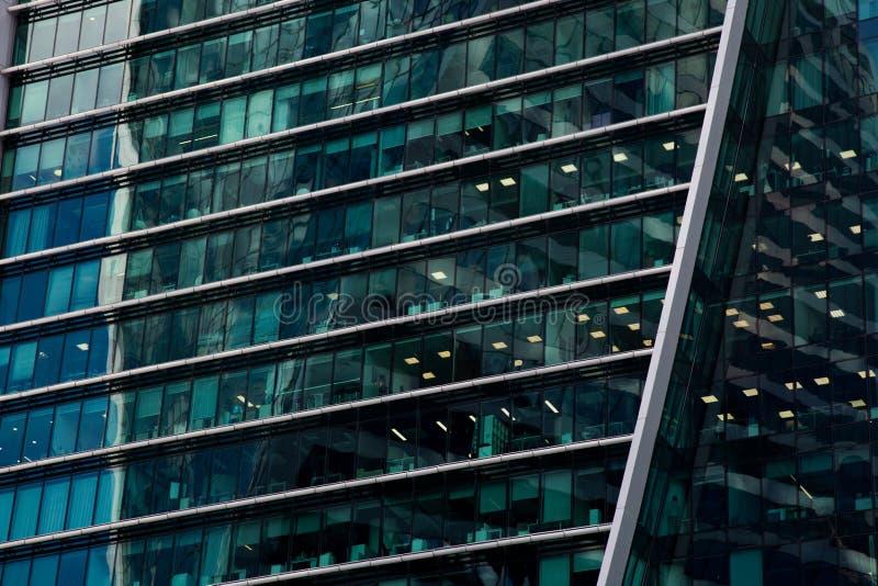 Omr?de av aff?rsmitt Glass skyskrapafasad teckning f?r bl? kompass f?r arkitekturbakgrund djup ?ver royaltyfri fotografi
