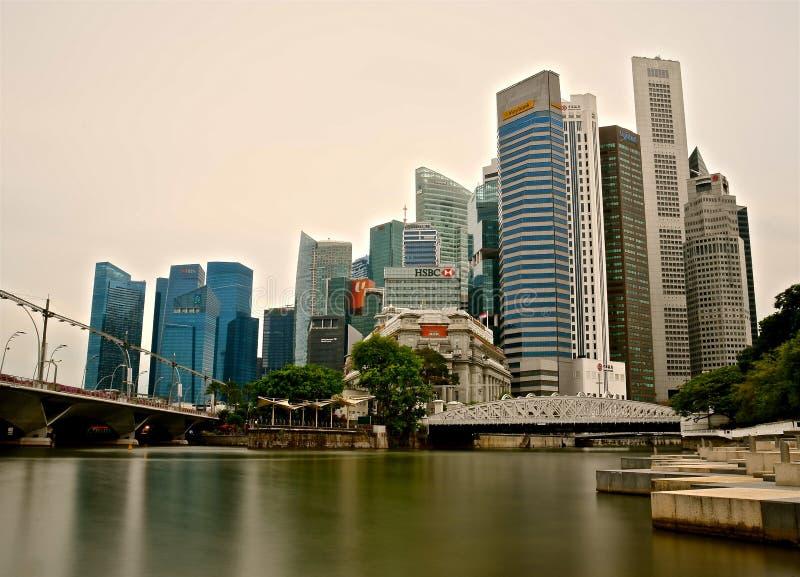 Omr?de Singapore f?r central aff?r fotografering för bildbyråer