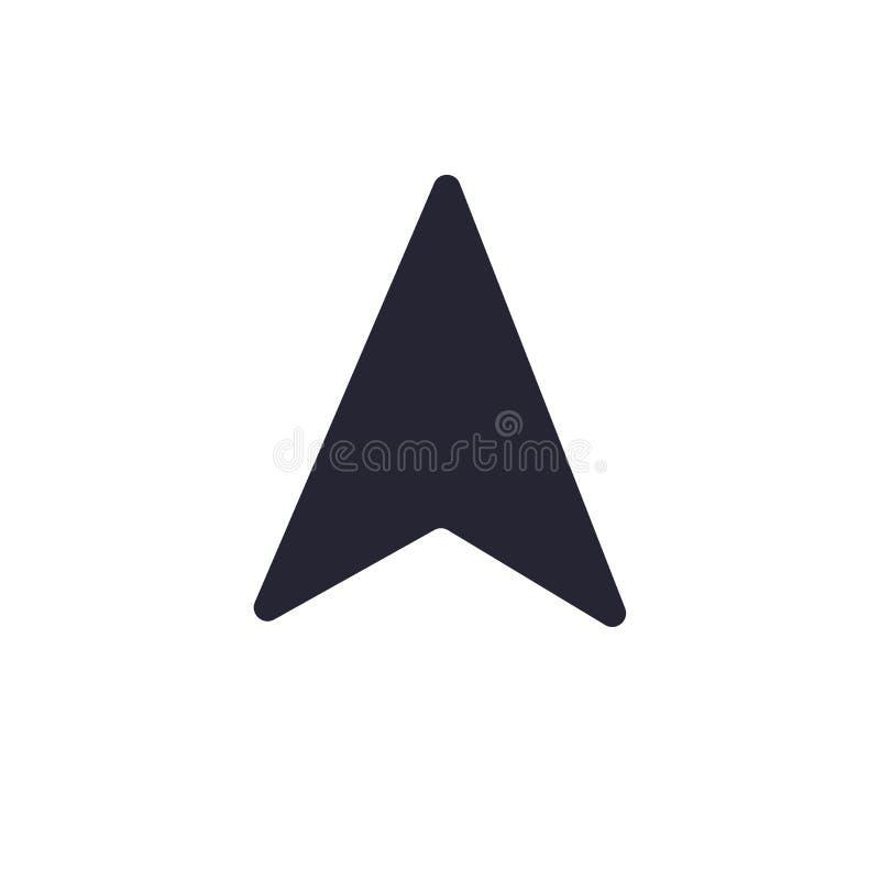 Omringa det symbolsvektortecknet och symbolet som isoleras på vit bakgrund, kompasslogobegrepp vektor illustrationer