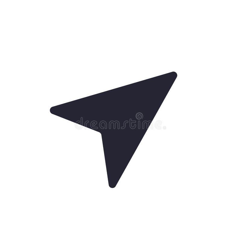 Omringa det symbolsvektortecknet och symbolet som isoleras på vit bakgrund, kompasslogobegrepp stock illustrationer