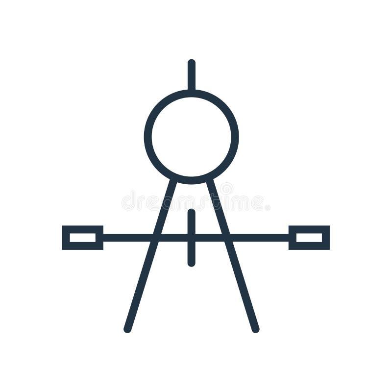 Omringa symbolsvektorn som isoleras på vit bakgrund, kompasstecken vektor illustrationer