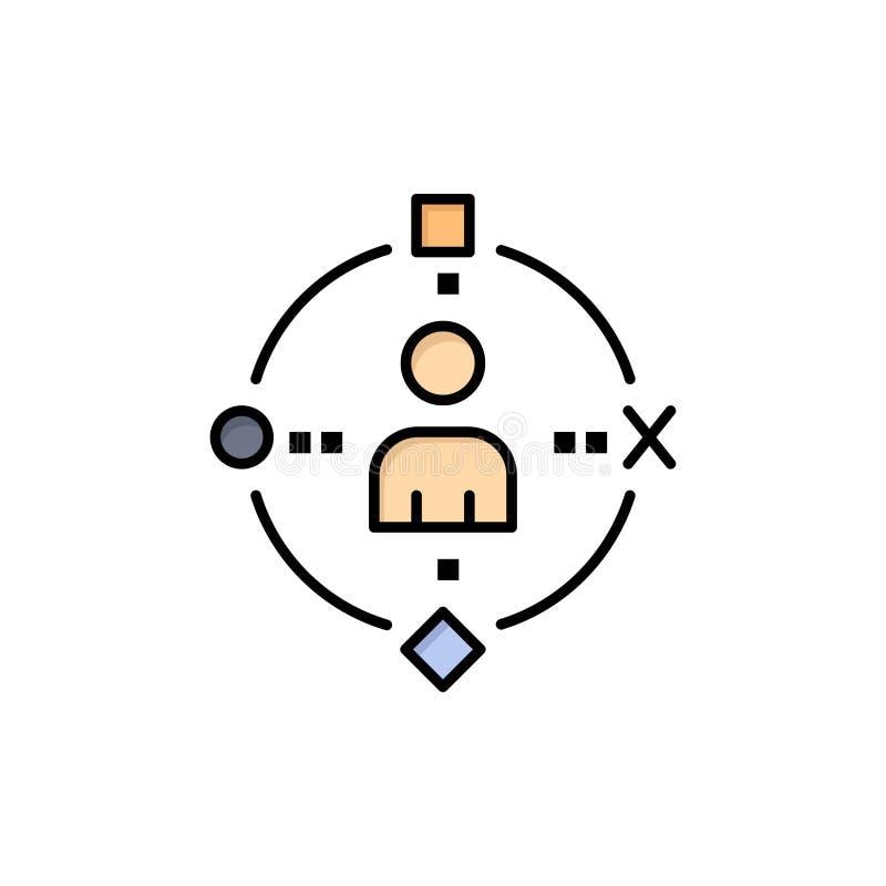 Omringend, Gebruiker, Technologie, ervaar Vlak Kleurenpictogram Het vectormalplaatje van de pictogrambanner royalty-vrije illustratie
