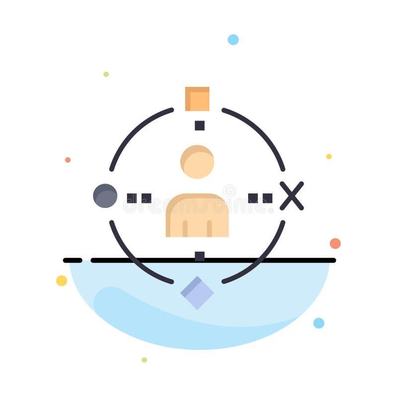 Omringend, Gebruiker, Technologie, Ervaringszaken Logo Template vlakke kleur royalty-vrije illustratie
