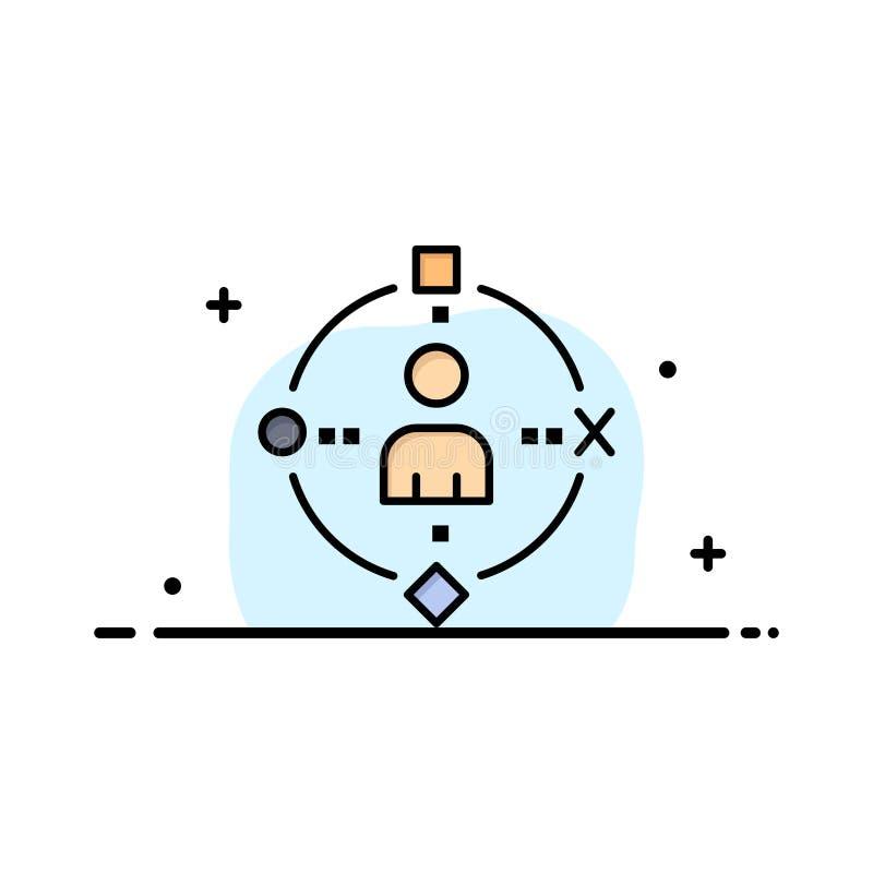 Omringend, Gebruiker, Technologie, Ervaringszaken Logo Template vlakke kleur stock illustratie
