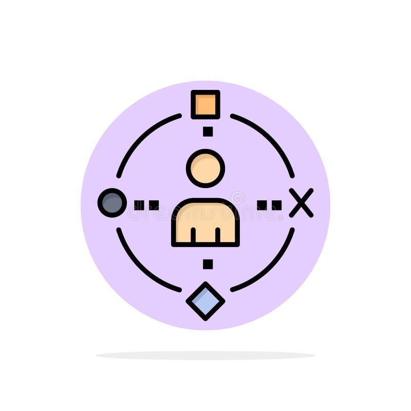 Omringend, Gebruiker, Technologie, van de Achtergrond ervarings Abstract Cirkel Vlak kleurenpictogram stock illustratie