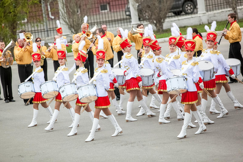Omsk Ryssland - Maj 08, 2013: presidents- regemente royaltyfria foton