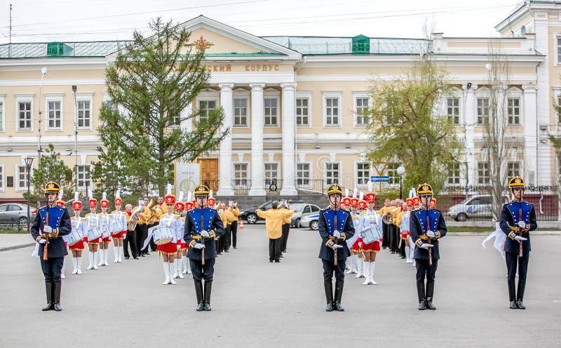 Omsk Ryssland - Maj 08, 2013: presidents- regemente arkivfoto