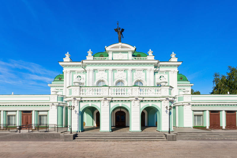 The Omsk Theater, Russia. The Omsk Theater of Drama in Omsk in Siberia, Russia royalty free stock photos