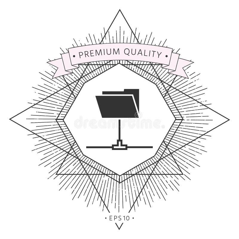 Omslag die pictogram delen royalty-vrije illustratie