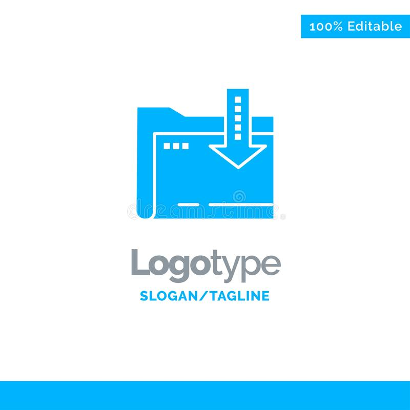 Omslag, Download, Gegevensverwerking, Pijl Blauwe Zaken Logo Template royalty-vrije illustratie