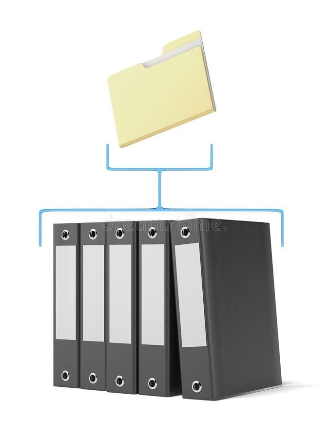 Omslag en bindmiddelen stock illustratie