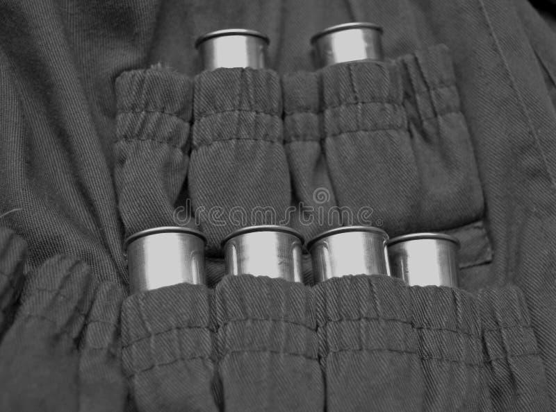 omslag för ammunitionkassettjägare arkivbilder
