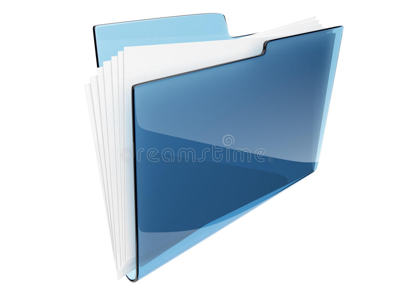 Omslag. Folder. Geïsoleerde 3D van het dossier royalty-vrije illustratie