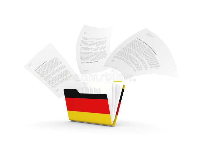 Omslag met vlag van Duitsland stock illustratie