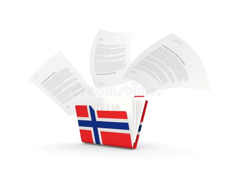 Omslag met vlag van Noorwegen royalty-vrije illustratie