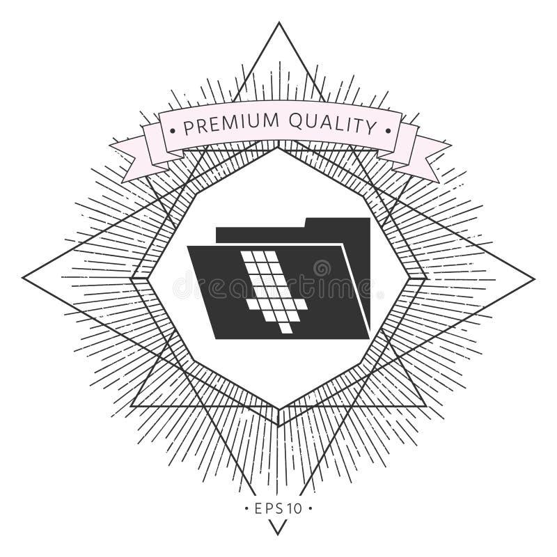 Omslag onderaan pijlpictogram vector illustratie