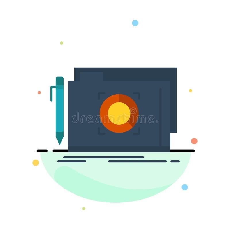 Omslag, Slot, Doel, het Pictogrammalplaatje van de Dossier Abstract Vlak Kleur royalty-vrije illustratie