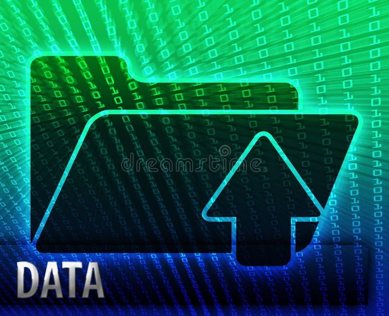 Omslag van de de informatie de reserveopslag van gegevens stock illustratie