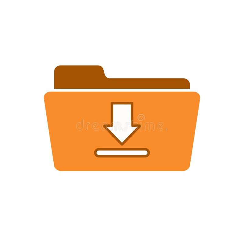 Omslag van de downloaddownloads van de pijlschijf krijgt de benedenpictogram royalty-vrije illustratie