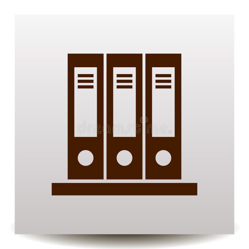 Omslag vectorpictogram op een realistische document achtergrond met schaduw stock illustratie