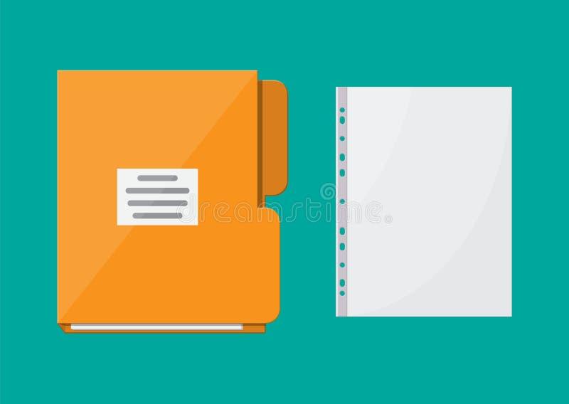 Omslag voor correspondentie en dossier voor document vector illustratie