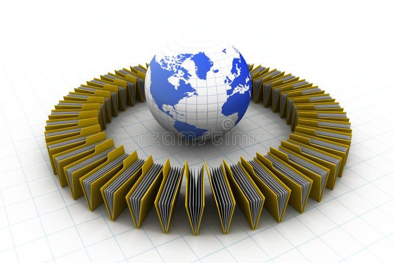 Omslagen met wereld stock illustratie