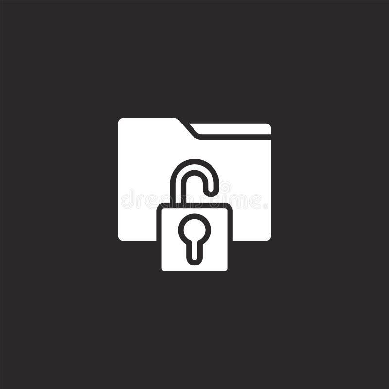 Omslagpictogram Gevuld omslagpictogram voor websiteontwerp en mobiel, app ontwikkeling omslagpictogram van gevulde cyber veilighe royalty-vrije illustratie