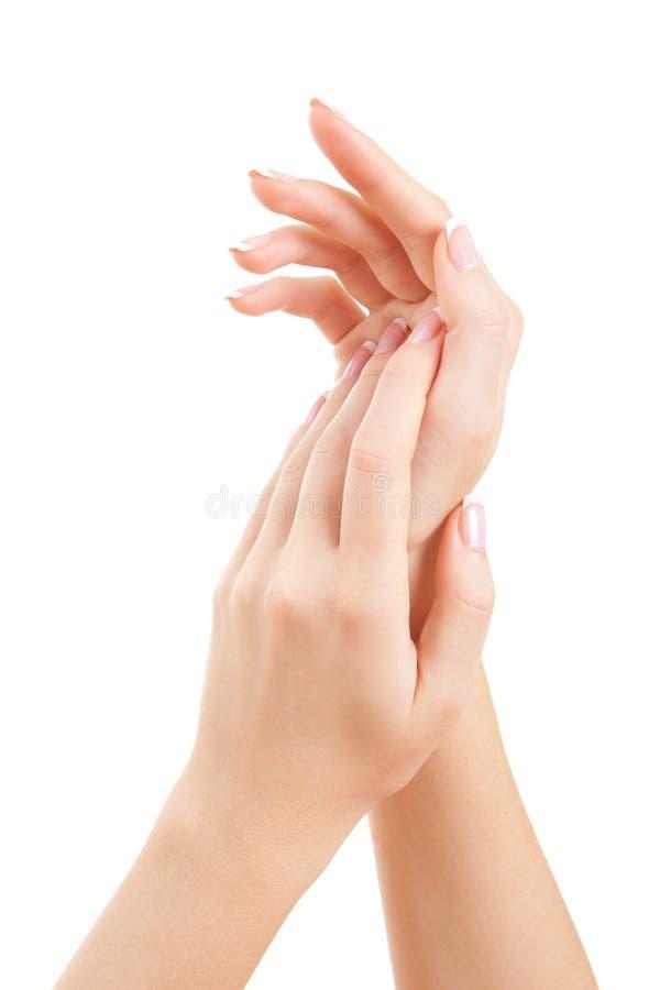 omsorg hands kvinnan royaltyfria foton