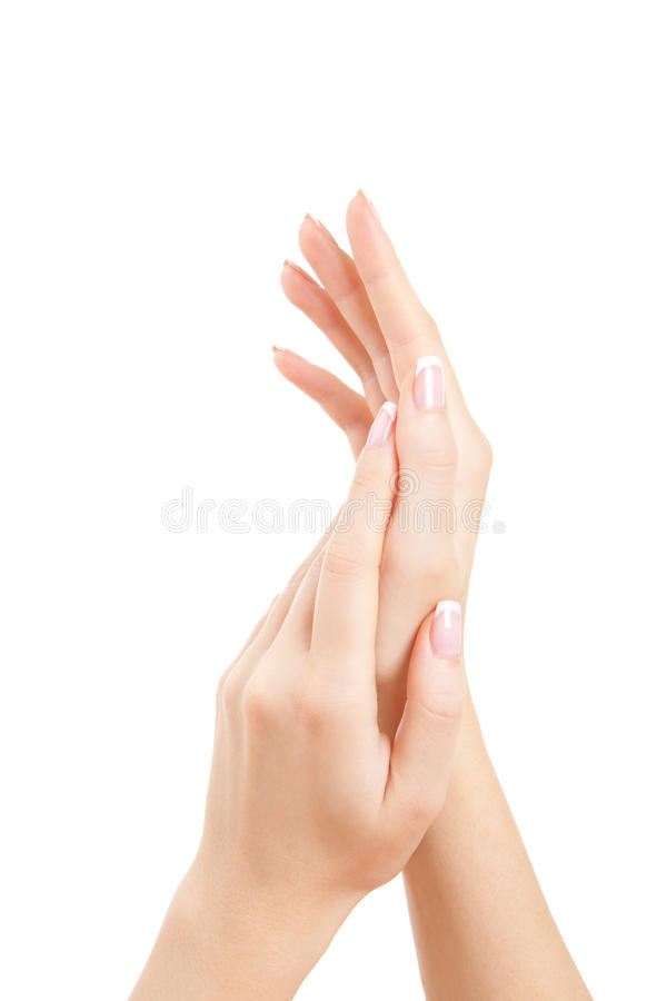 omsorg hands kvinnan arkivfoto