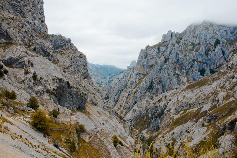 Omsorger sänder i Picosen de Europa, berglandskap arkivfoto
