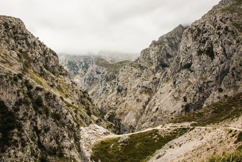 Omsorger sänder i Picosen de Europa, berglandskap fotografering för bildbyråer