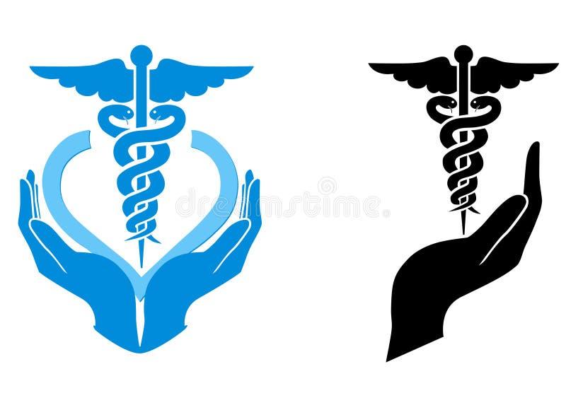 omsorgsläkarundersökningsymbol arkivfoton