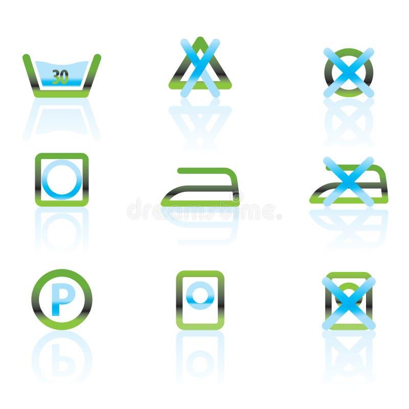 omsorgstvätterisymboler vektor illustrationer