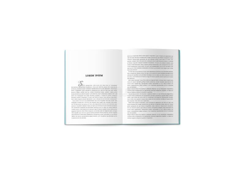 Omsvängningen av katalogen med illustrationen arkivbilder