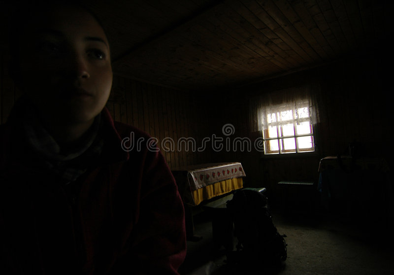 Omu Shelter. Inside the Omu Shelter in the Valea Alba climbing area royalty free stock image