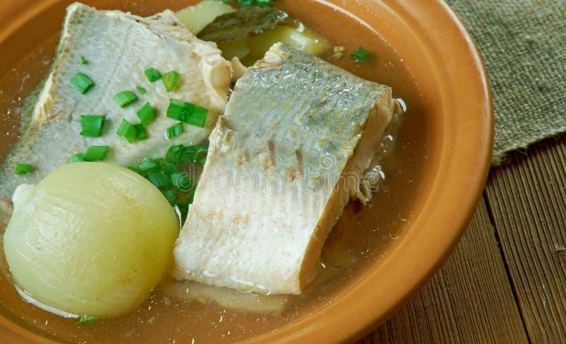 omul西伯利亚鱼汤  免版税库存照片
