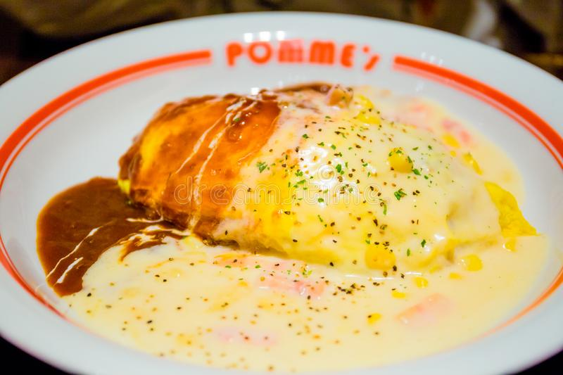 Omurice japonais images stock