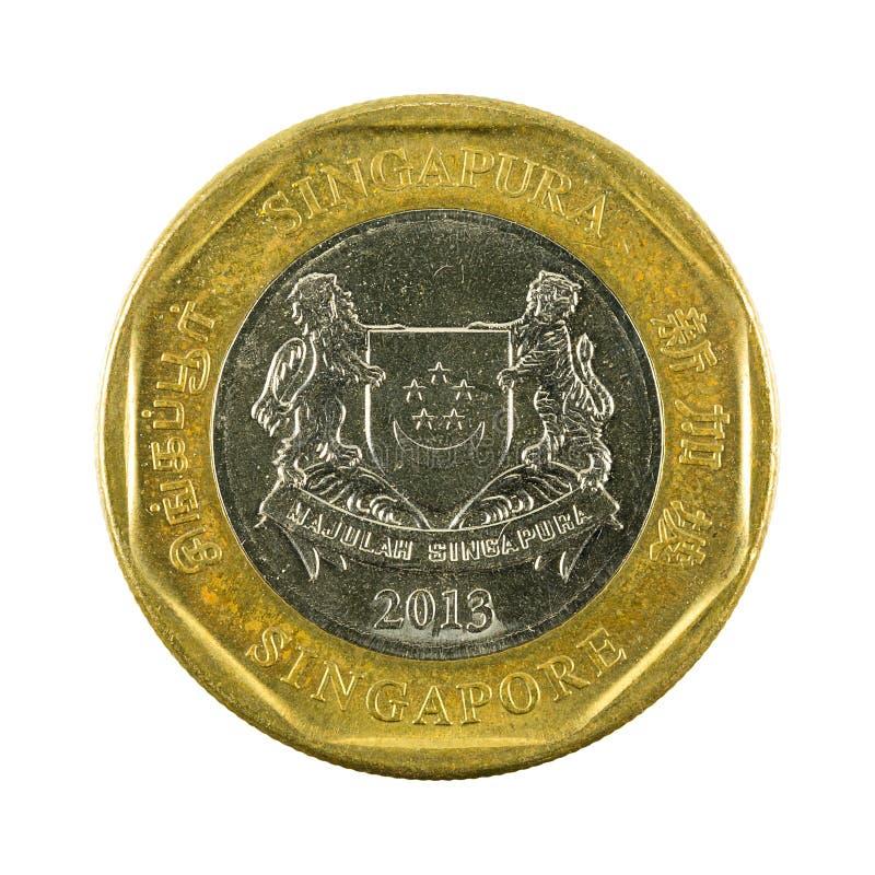 1 omvända mynt 2013 för singapore dollar arkivbilder