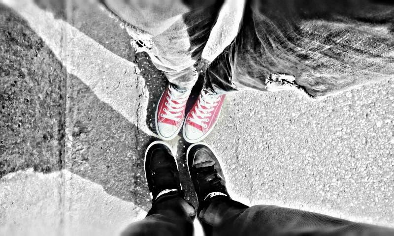 Omvända Nike Couple fotografering för bildbyråer