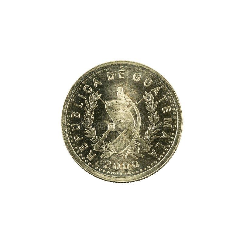 omvänt centavomynt 2000 för 5 guatemalan royaltyfri foto