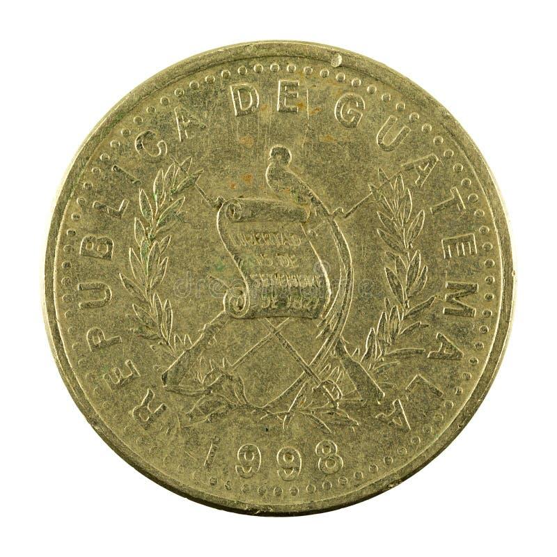 omvänt centavomynt 1998 för 25 guatemalan arkivfoto